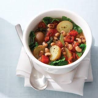 Black-Eyed Pea Stew with Collard Greens & Potatoes.
