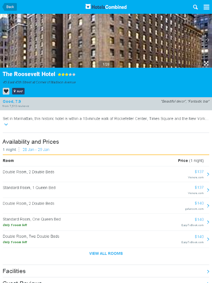 HotelsCombined - Hotel Search- screenshot