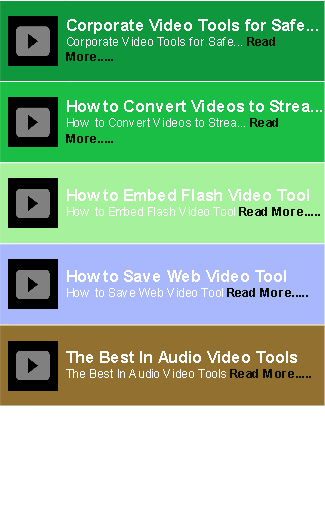 Video Tools Guide