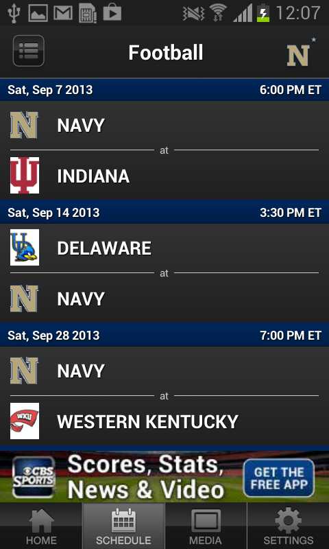 Navy Sports - screenshot