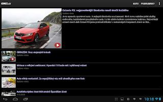 Screenshot of iDNES.cz