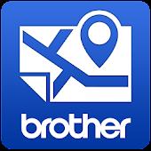 Brother 地図プリント