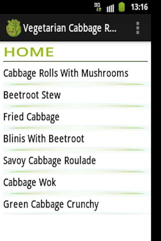 Vegetarian Recipes for Cabbage