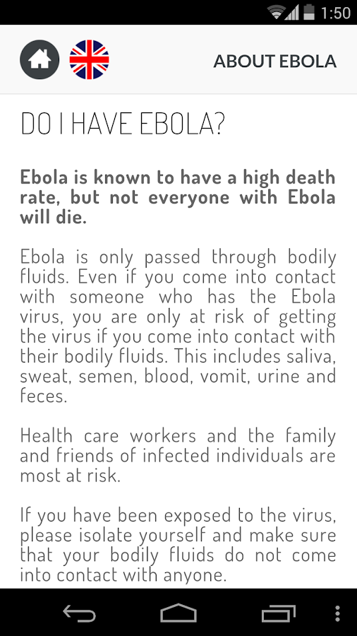 About Ebola – Screenshot