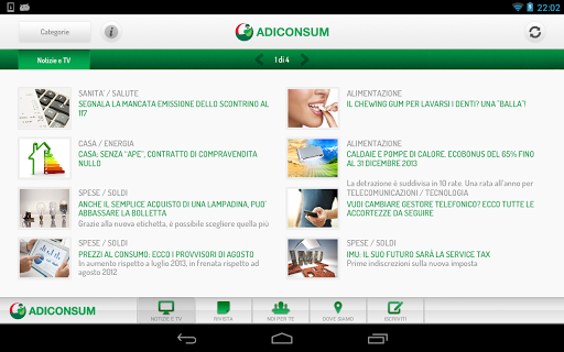 Adiconsum for Tablet