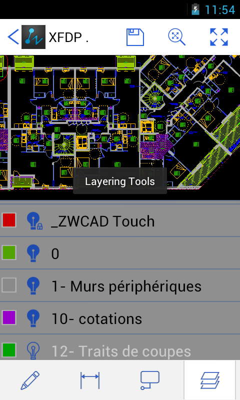 ZWCAD Touch - screenshot