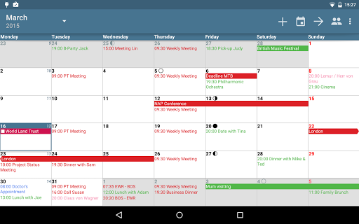 aCalendar+ Calendar & Tasks para Android
