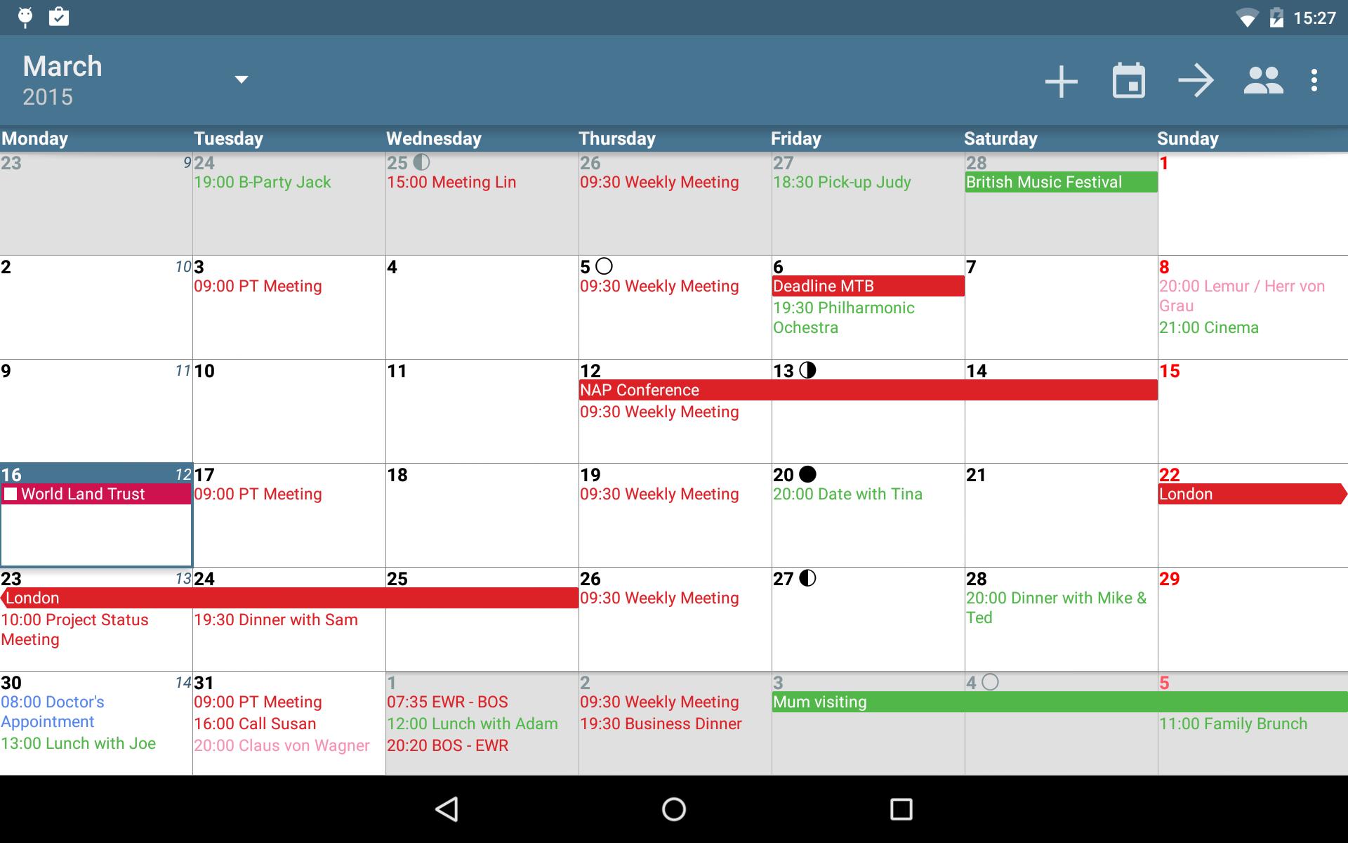 aCalendar+ Calendar & Tasks screenshot #9