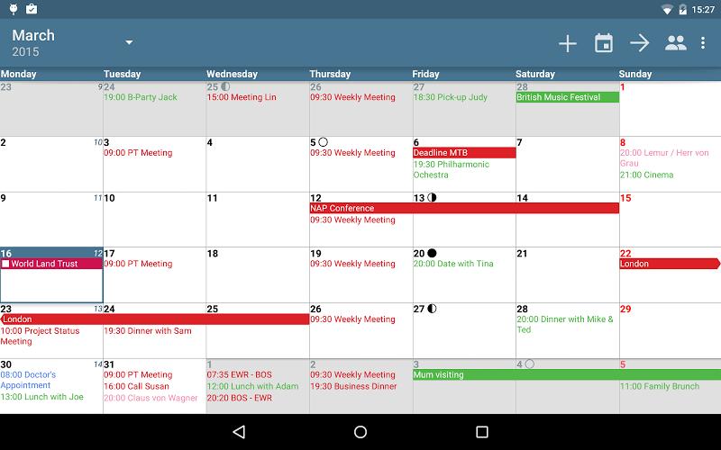 aCalendar+ Calendar & Tasks Screenshot 7