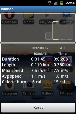 Runner (Jogging tracker) - screenshot