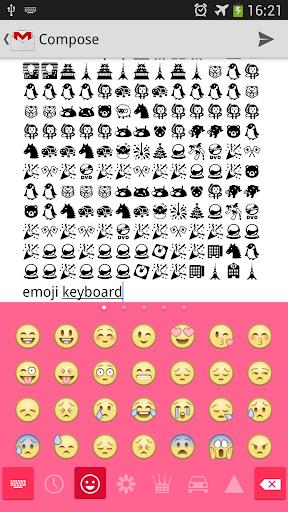 Pink Theme Emoji keyboard