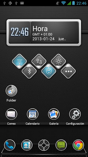 Next Launcher Theme Carbon HD