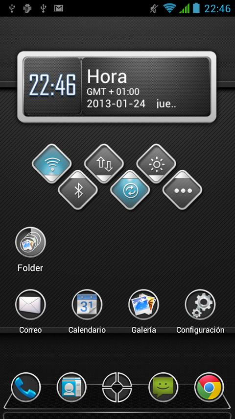 Next Launcher Theme Carbon HD - screenshot