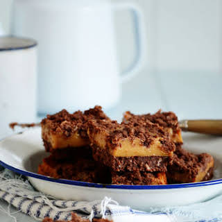 Chocolate, Coconut & Caramel Slice.