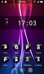 Crystal Blackball HD Adw Theme - screenshot thumbnail
