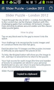 Slider Puzzle - London 2012 - screenshot thumbnail
