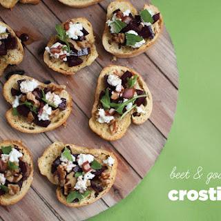 Beet & Goat Cheese Crostini.