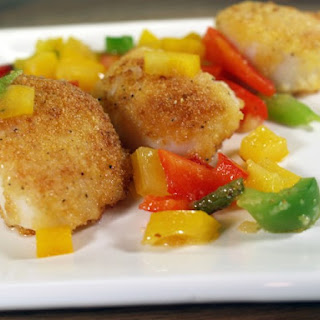 Pan-Seared Scallops With Bell Pepper Confetti