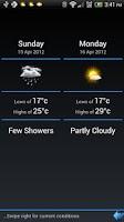 Screenshot of Weather Slider