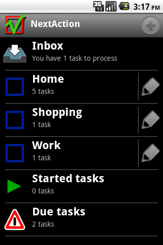 NextAction- screenshot