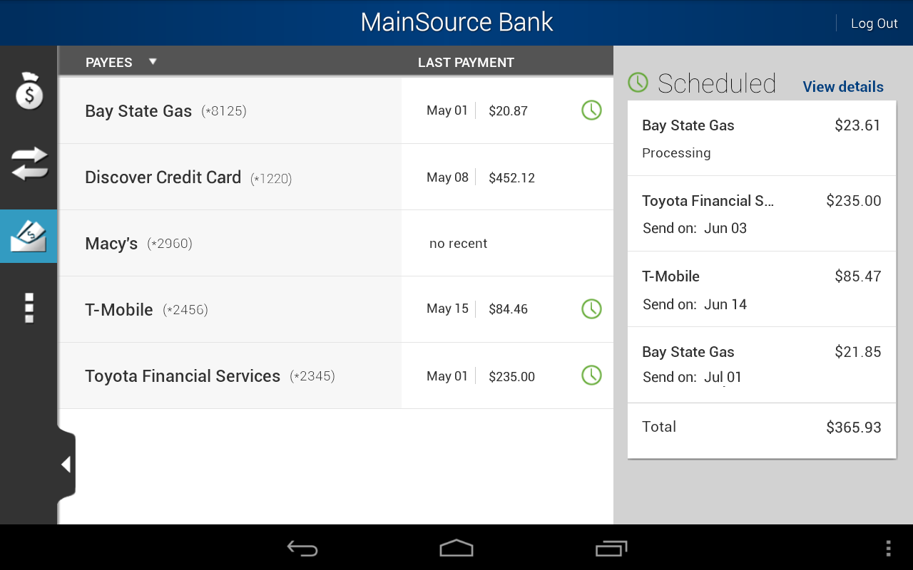 MainSource Bank - screenshot