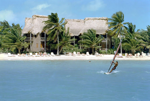 sailboard-ambergris-caye-belize - Sailboarding on Ambergris Caye, Belize.
