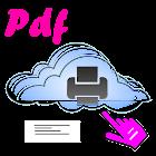 Pdf txt and xls print icon