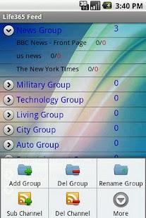 RSS Feed reader - screenshot thumbnail