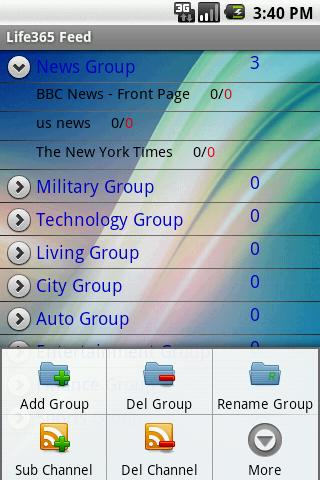 RSS Feed reader - screenshot