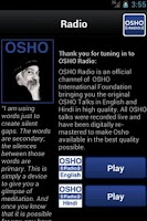 Screenshot of OSHO Radio