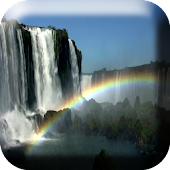 Waterfall & Rainbow Wallpaper