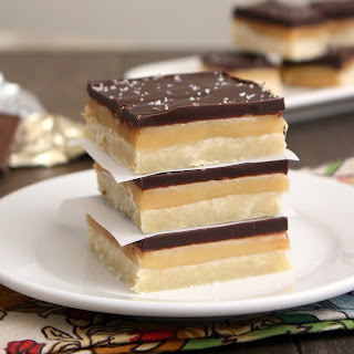 Salted Caramel Chocolate Shortbread Bars.