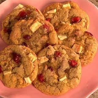Cranberry, Orange and White Chocolate Chunk Cookies.