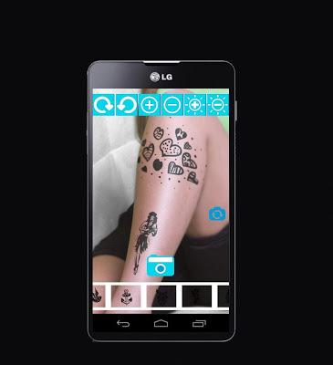 Camera Tattoo - Tattoo on Pics - screenshot