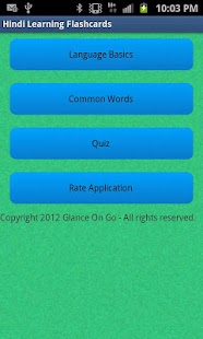 Learn Hindi Quiz and Flashcard - screenshot thumbnail