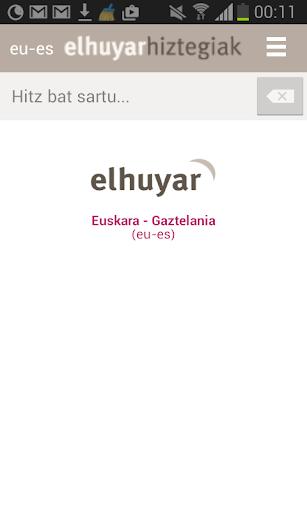 Elhuyar Hiztegiak offline