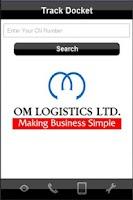Screenshot of OM Logistics - Customer