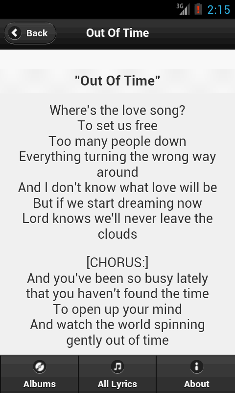 Handy Lyrics - Blur - screenshot