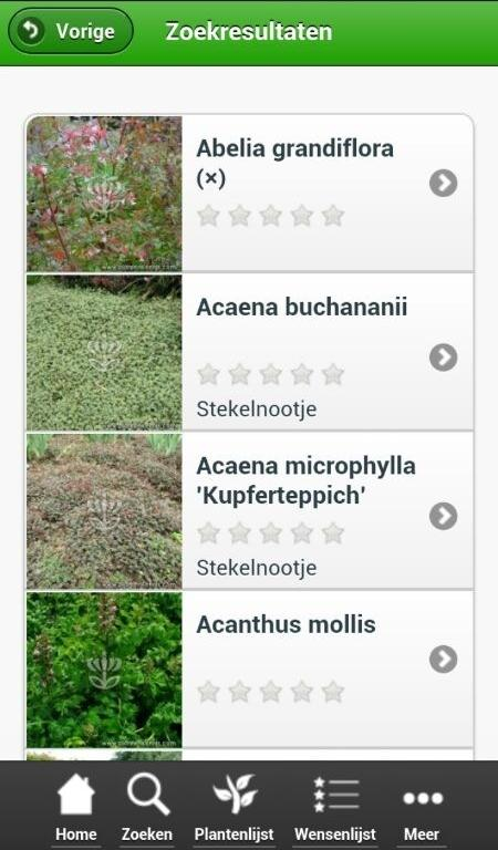 Plantenzoeker lite - screenshot