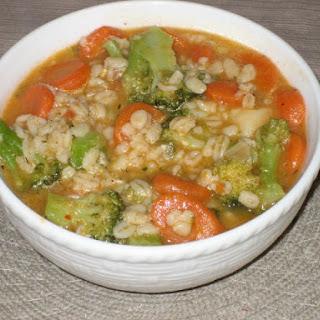 Broccoli And Barley Soup.