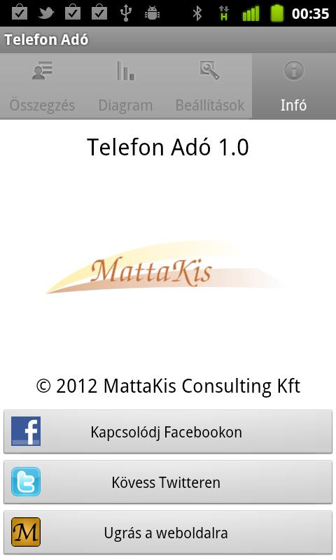 Telefon Adó- screenshot