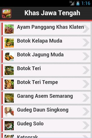 Resep Masakan Jawa Tengah