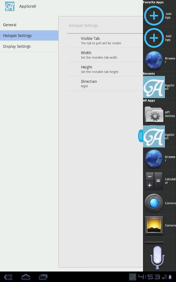AppScroll Sidebar Lite - screenshot