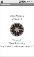 Screenshot of Speak Navajo Volume 2 Language