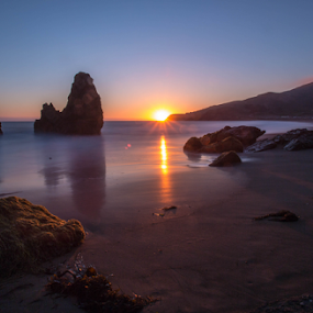 Rodeo Beach sunset by Kevin Denton - Landscapes Sunsets & Sunrises ( california, sunset, rodeo beach,  )