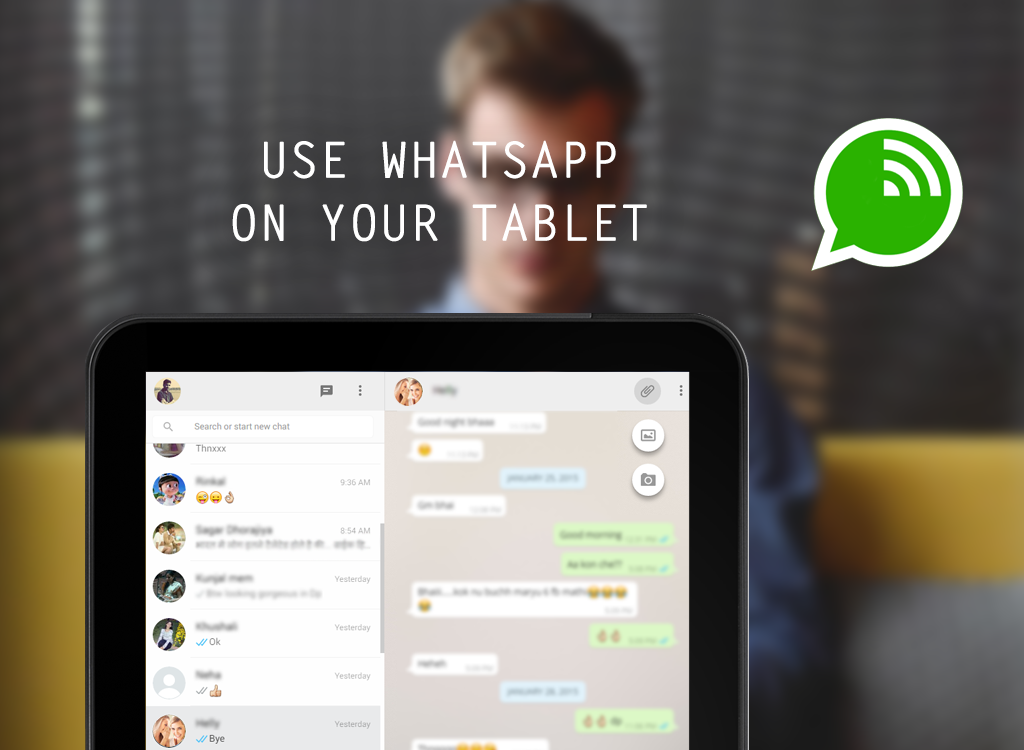 I want to download whatsapp on my tablet  Exploitbutter cf