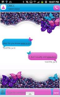 GO SMS THEME|GlitterCandySky - screenshot thumbnail