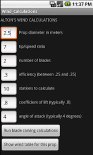 Alton's Wind Calculations- screenshot thumbnail
