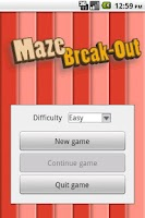 Screenshot of Maze Break-Out