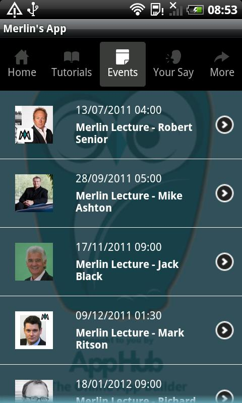 Merlin's App - screenshot